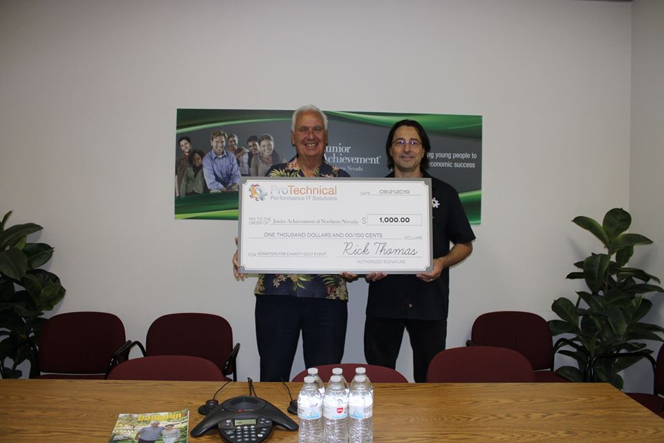 ProTechnical Donates to Junior Achievement of Northern Nevada